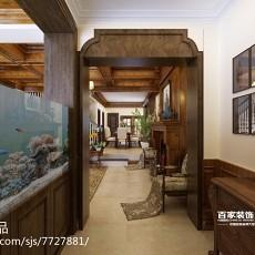 精选138平米美式别墅过道效果图片