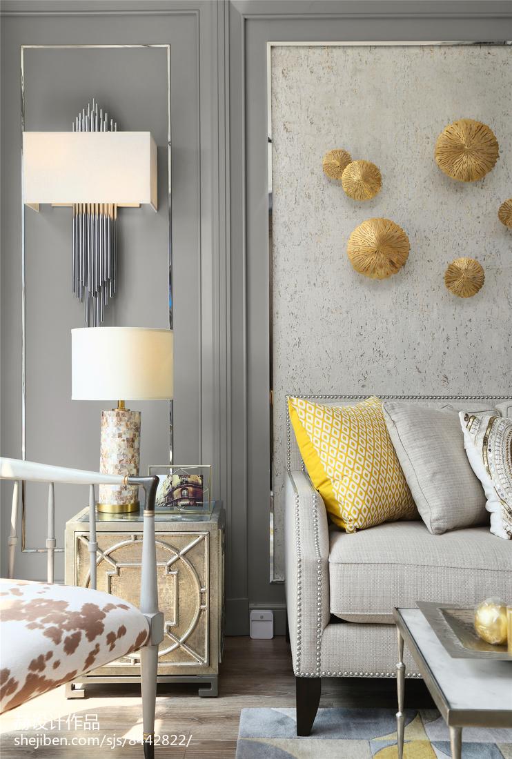 精选88平米二居客厅美式装修图片