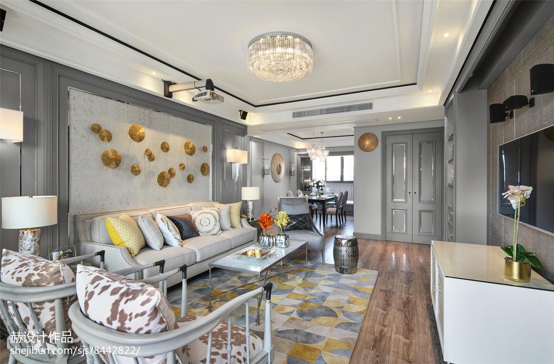 精致57平美式二居客厅图片欣赏