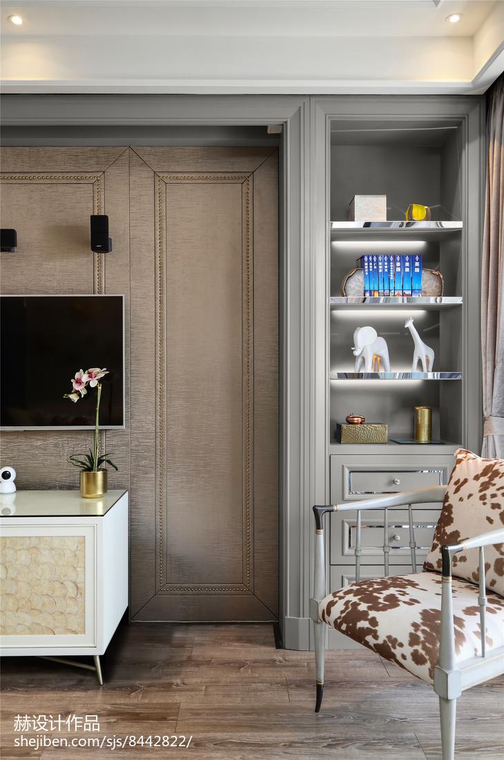 面积89平美式二居客厅装修设计效果图