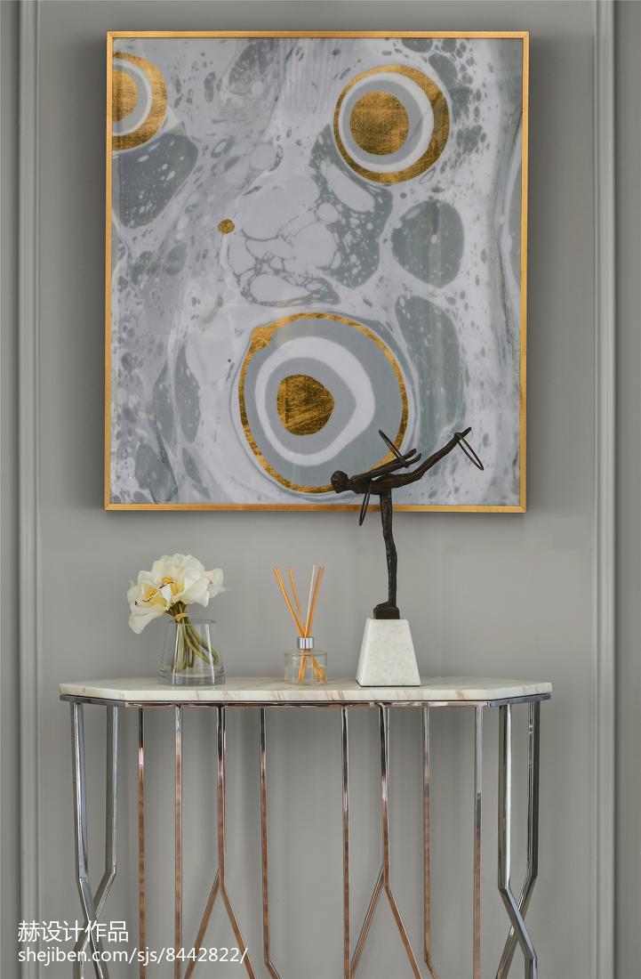 热门76平米二居客厅美式装修效果图片欣赏