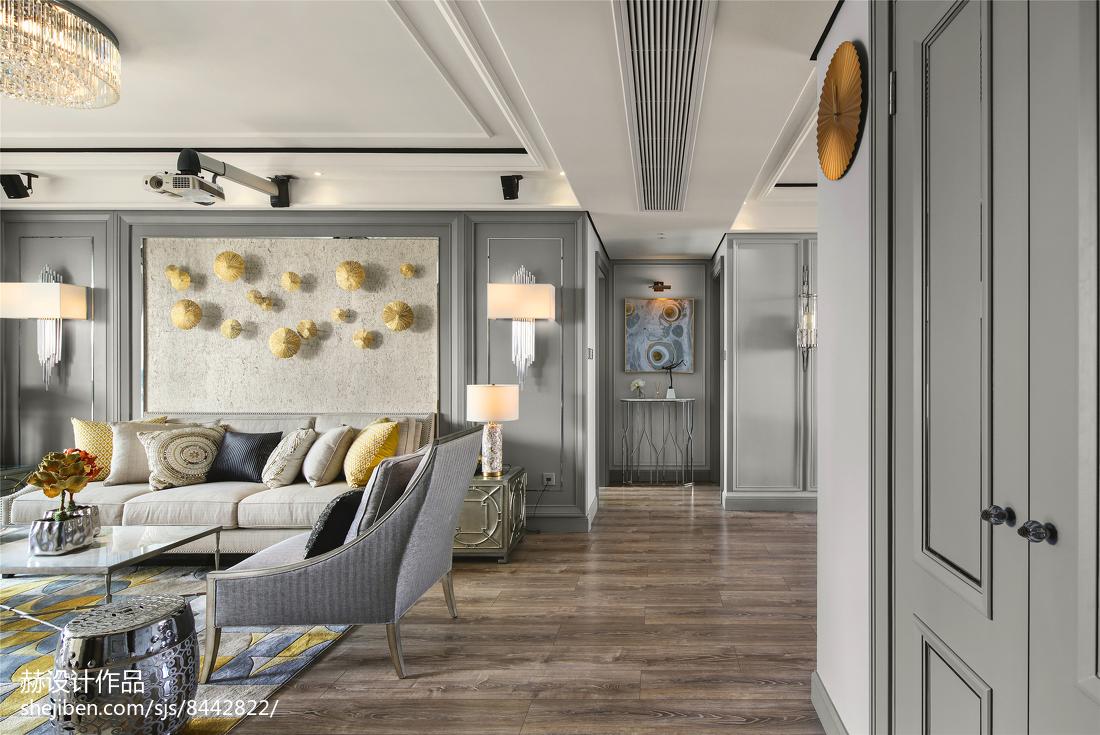 201881平米二居客厅美式装修实景图片