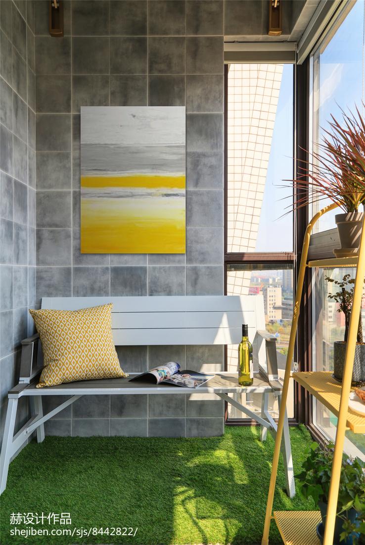 温馨87平美式二居阳台装修图片