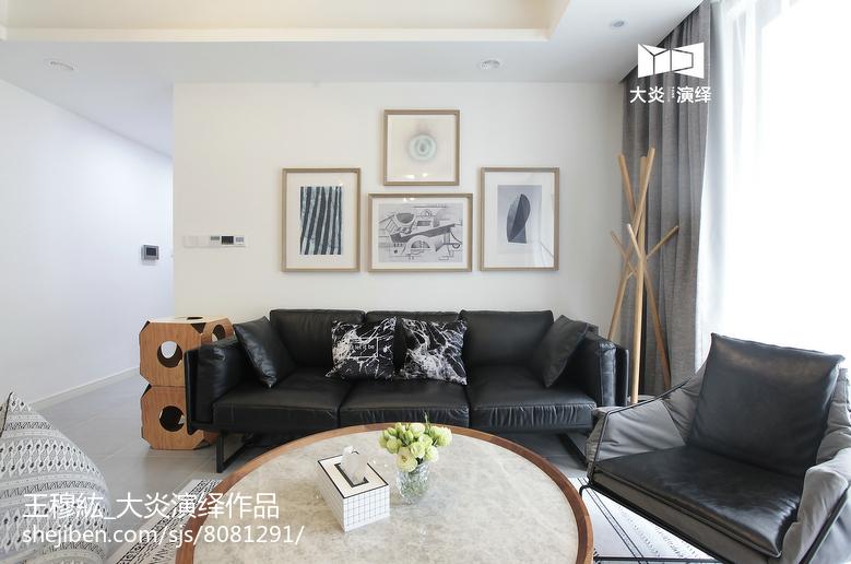 精美面积102平简约三居客厅装饰图片大全