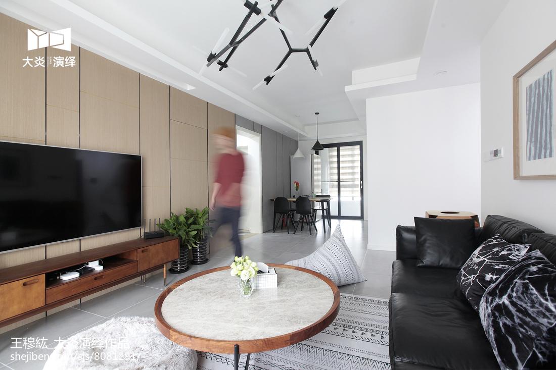 精美面积98平简约三居客厅装修图片欣赏