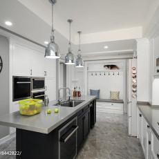 2018美式四居厨房装修实景图片