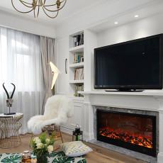 精美144平米四居客厅美式实景图片欣赏