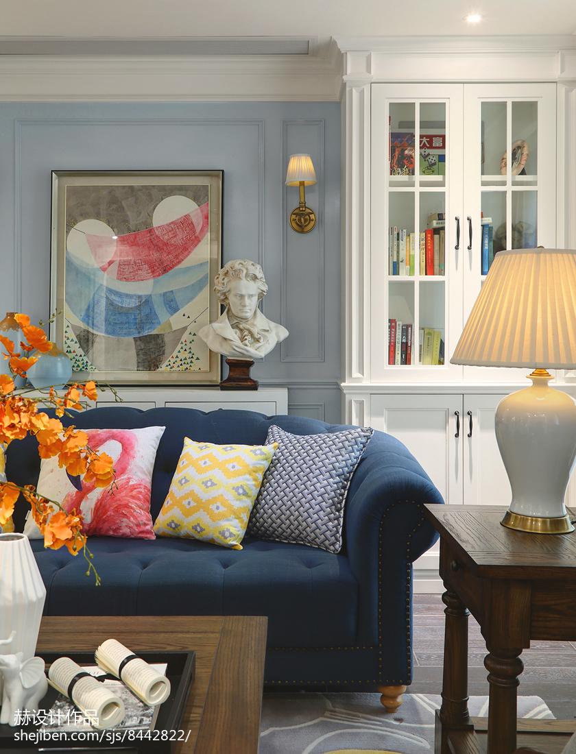 热门面积129平别墅客厅美式实景图片