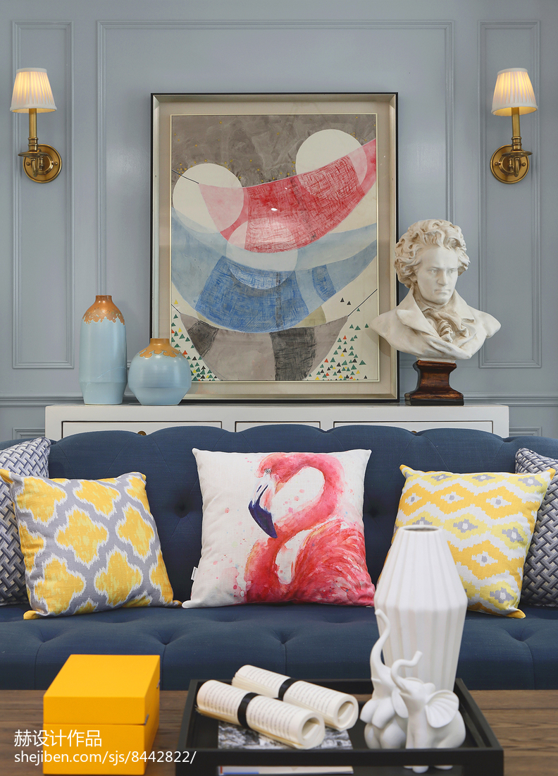 温馨359平美式别墅客厅装修图