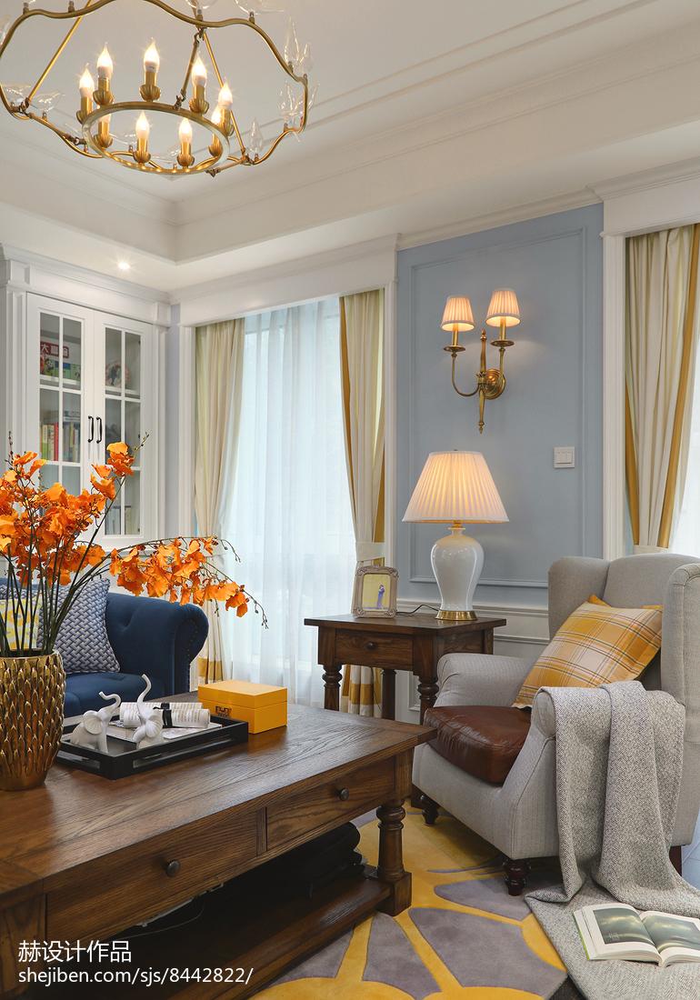 热门125平米美式别墅客厅实景图片欣赏
