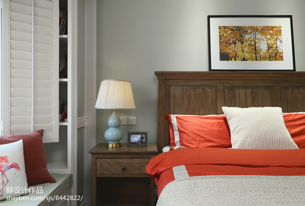 热门111平方美式别墅卧室装修图片大全