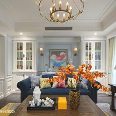 精选114平米美式别墅客厅实景图片欣赏