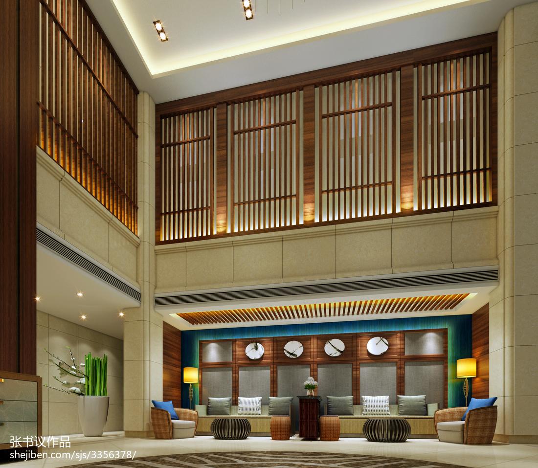 中式酒店房间装饰设计效果图片