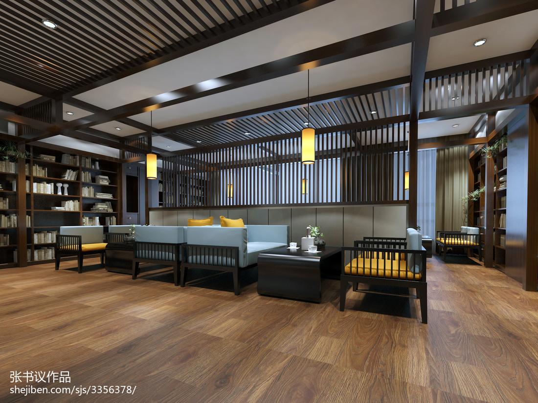 现代时尚酒店吊顶装饰设计效果图片