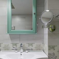 轻奢84平现代三居卫生间设计案例