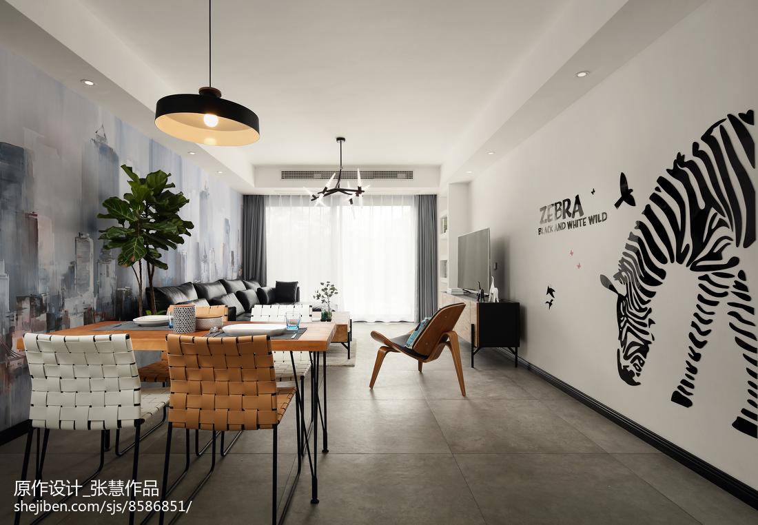 精美123平米现代复式客厅装修实景图片大全