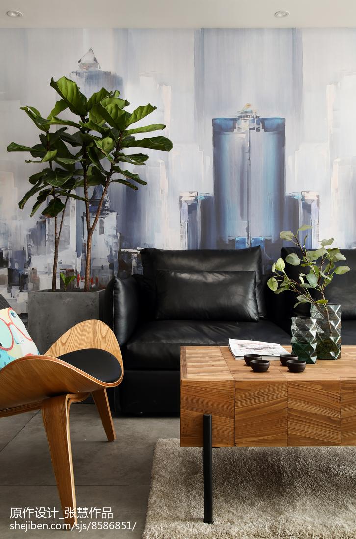 2018精选面积117平复式客厅现代装修效果图片