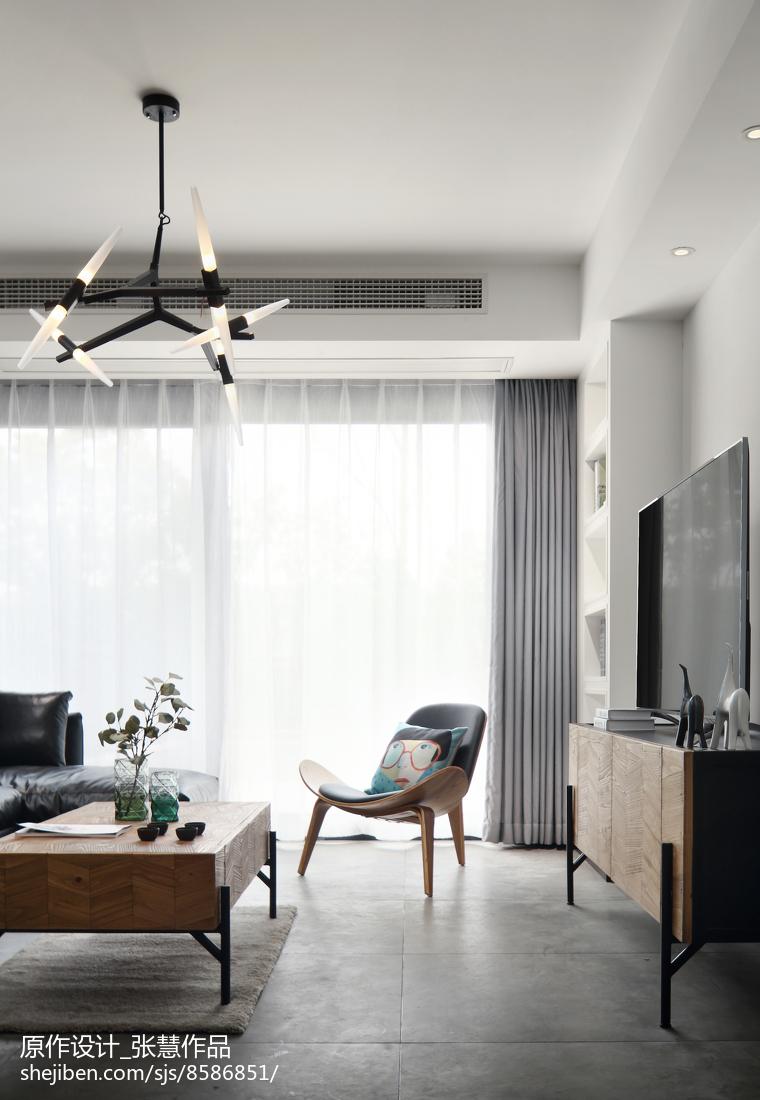 2018精选面积138平复式客厅现代装修设计效果图片