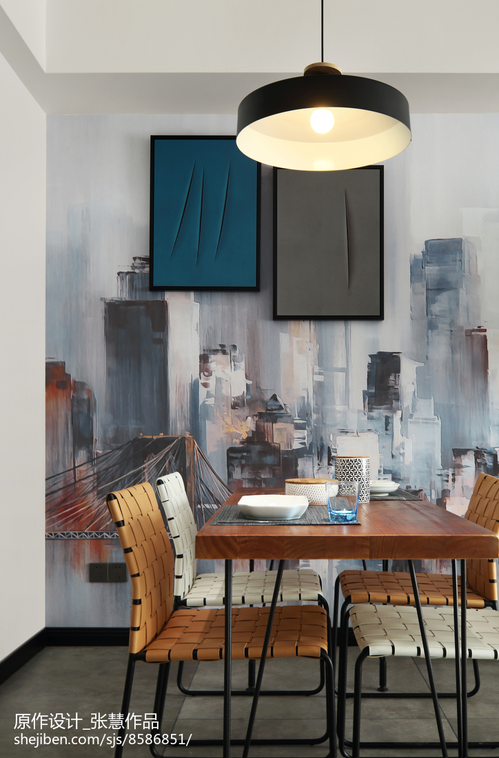 2018精选面积119平复式餐厅现代装修设计效果图片大全