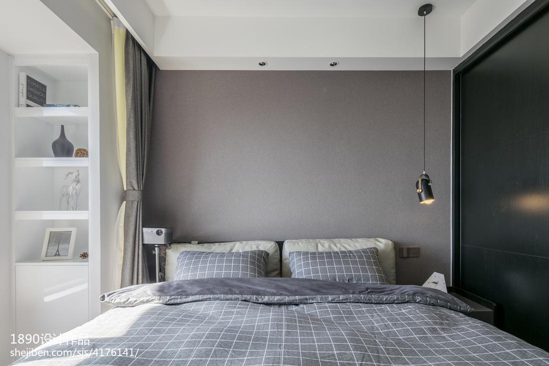 2018精选面积103平简约三居卧室装修设计效果图片欣赏