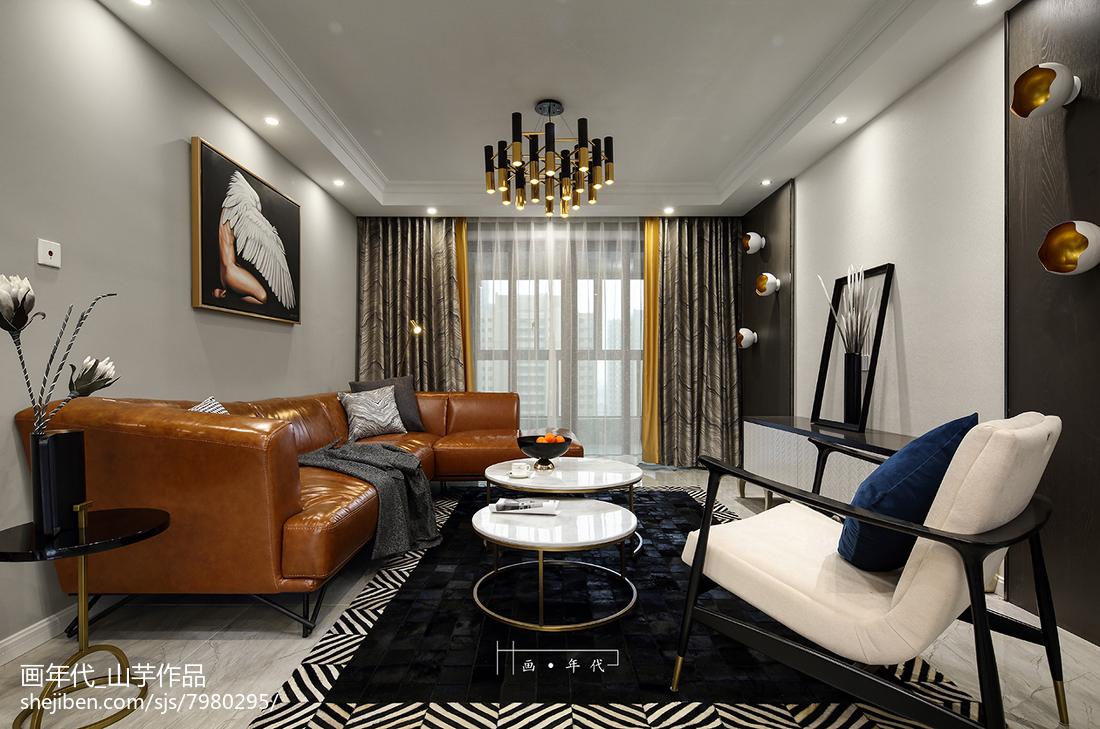 131平米四居客厅新古典装饰图片欣赏
