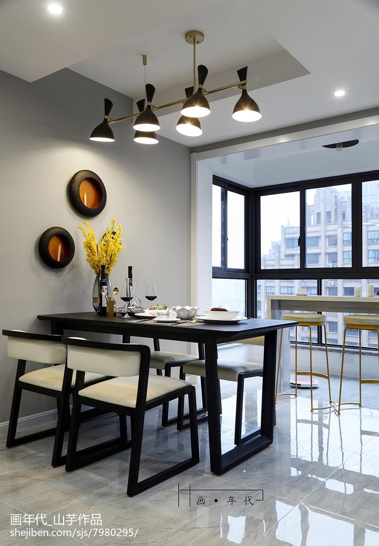 2018130平米四居餐厅新古典效果图片大全