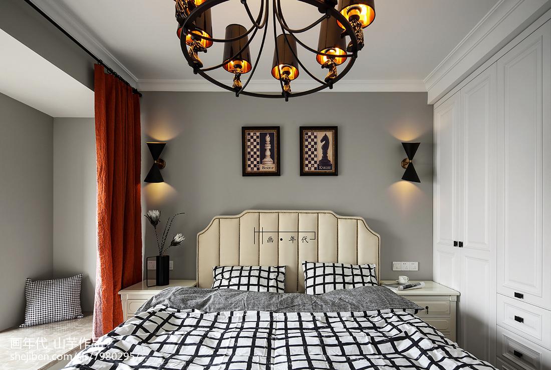 精选124平米四居卧室新古典装修实景图