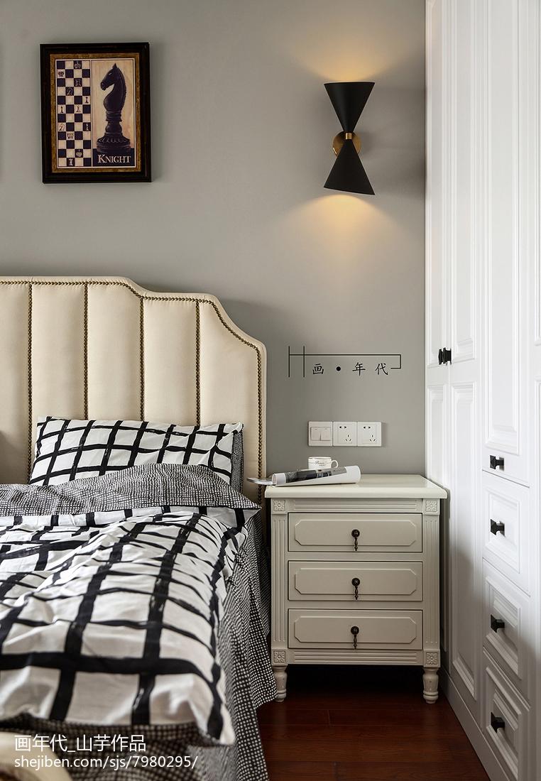 新古典四居卧室装修实景图片