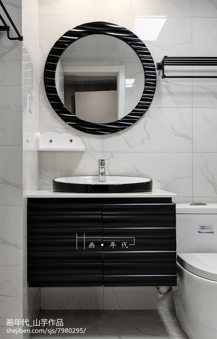 精选131平米四居卫生间新古典设计效果图