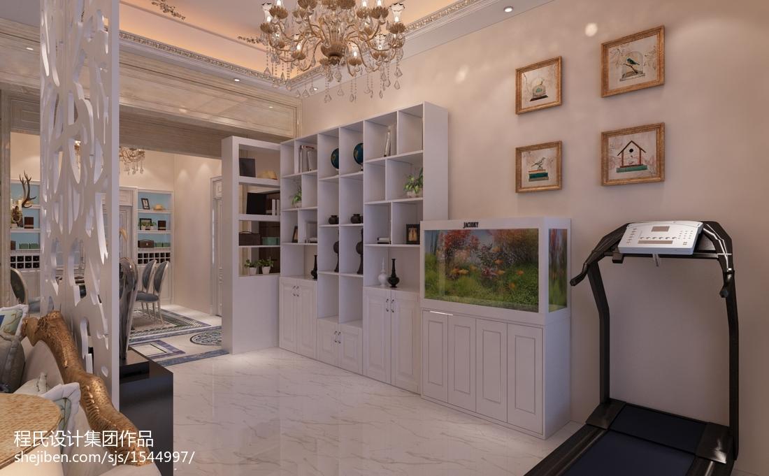 精选面积116平别墅客厅欧式装修效果图片欣赏