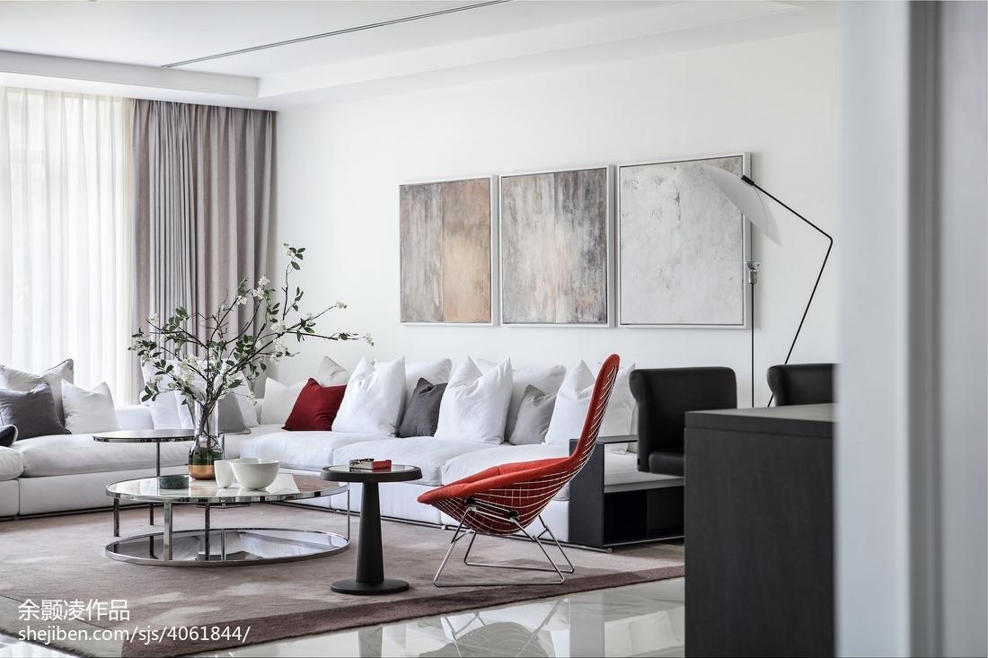 2018115平米现代别墅客厅装修效果图片欣赏