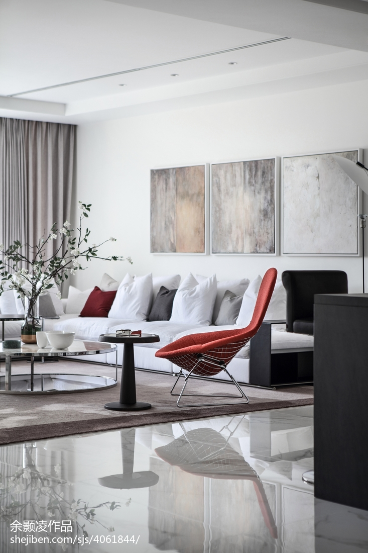 2018精选135平米现代别墅客厅装修设计效果图片大全