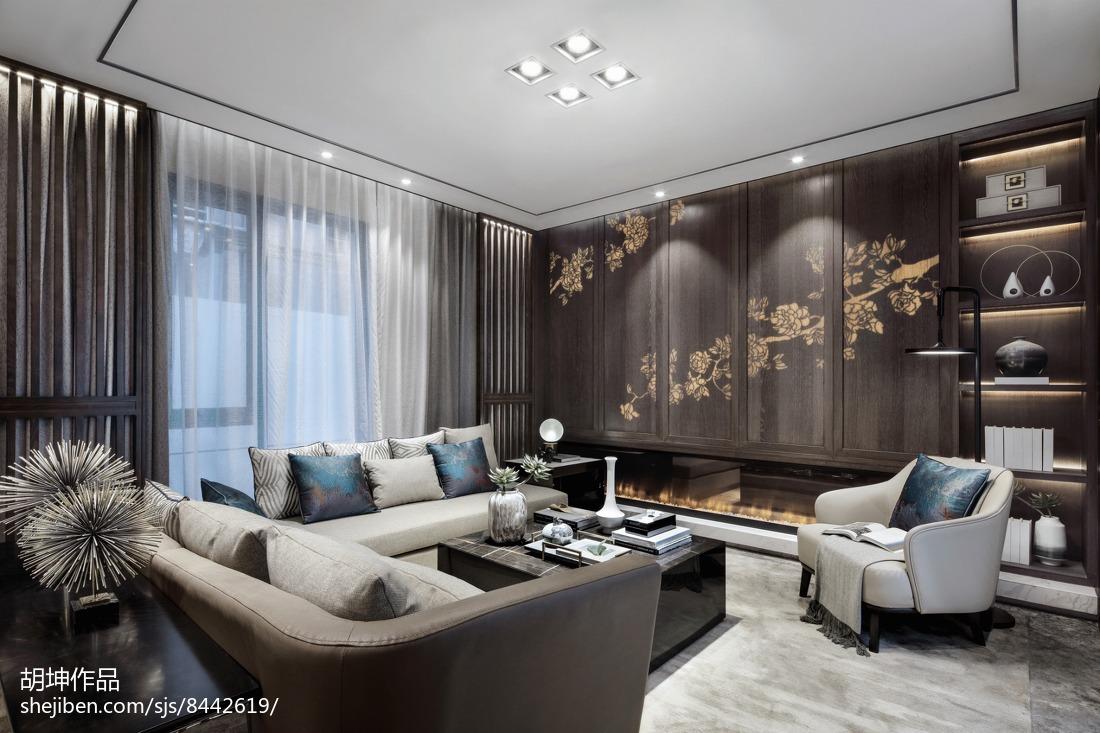 面积140平别墅客厅中式装修欣赏图片