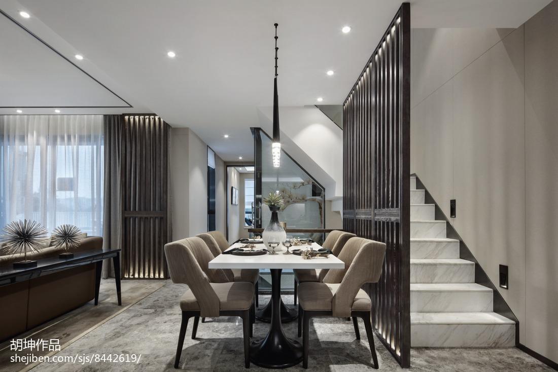 2018精选大小112平别墅餐厅中式装修欣赏图片大全