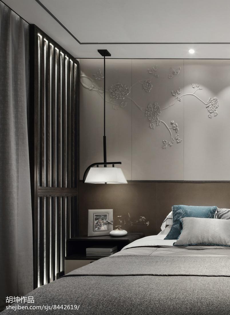 面积121平别墅卧室中式装修设计效果图片欣赏