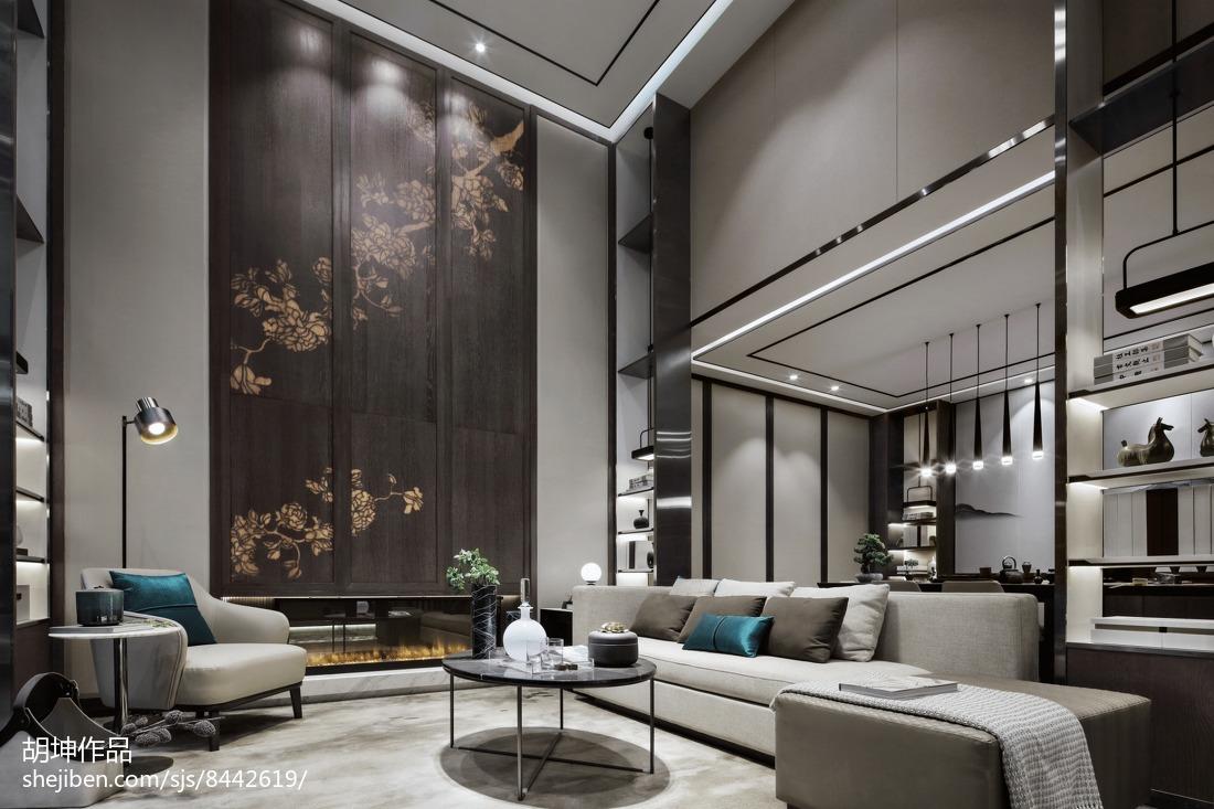 精选125平米中式别墅休闲区装修设计效果图片欣赏