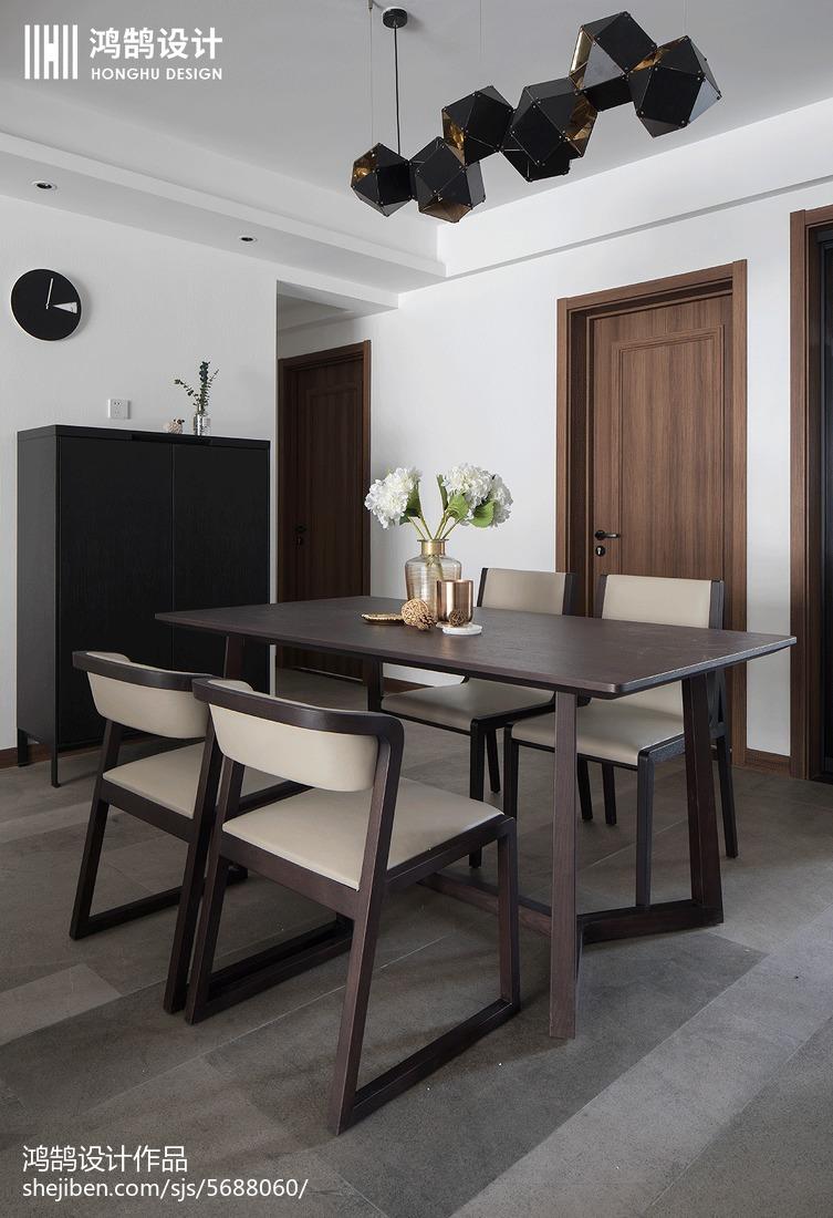 精美面积102平现代三居餐厅欣赏图片