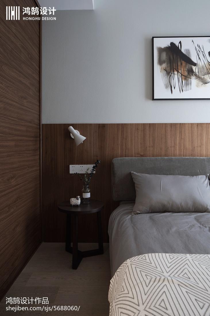 热门面积100平现代三居卧室装修实景图片大全