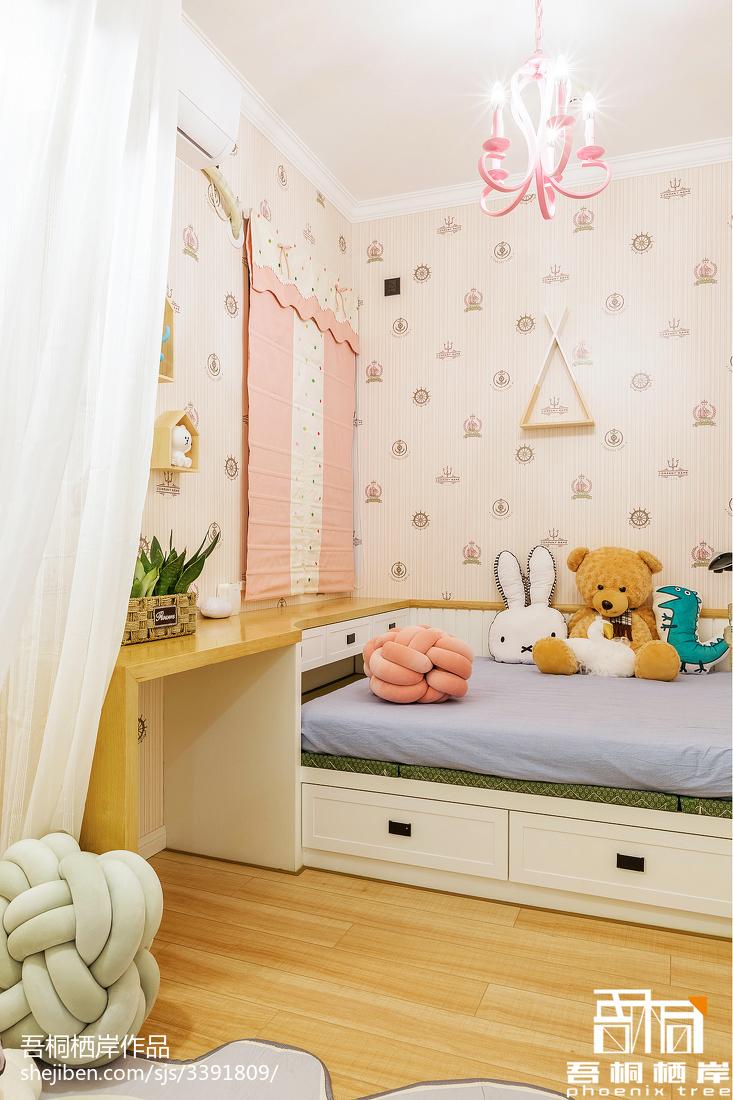 精美面积77平简约二居儿童房装修设计效果图片