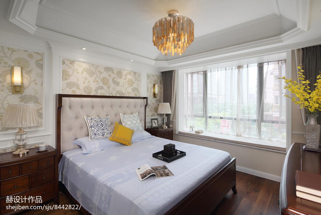 温馨94平美式四居卧室装修美图