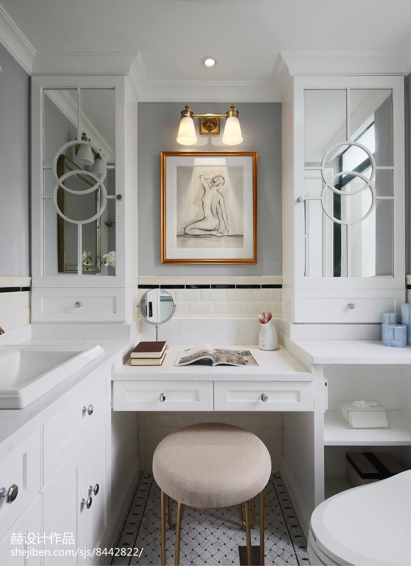 精美美式四居卫生间实景图片欣赏