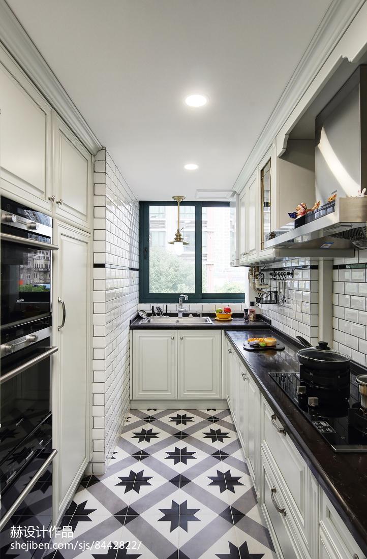 明亮115平美式四居厨房实景图