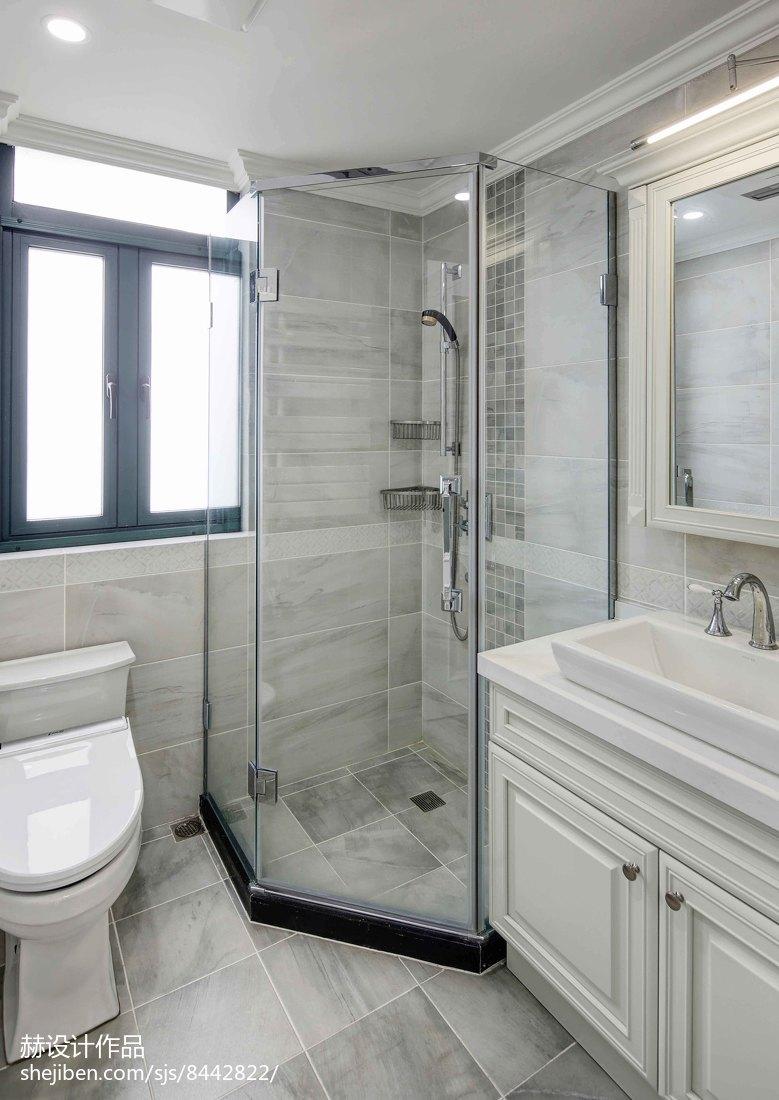 精选119平米四居卫生间美式装饰图片欣赏