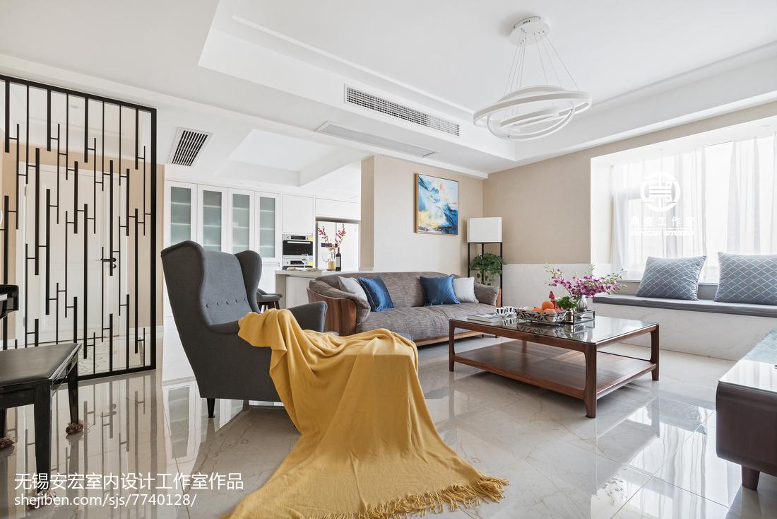 2018大小98平现代三居客厅装修设计效果图片欣赏