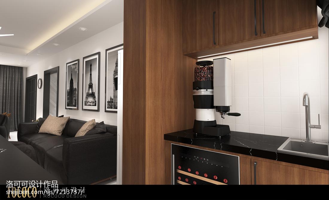 北欧简约风格四居室装修效果图片