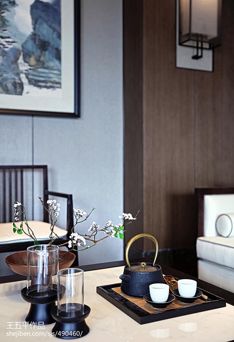 精美大小134平别墅客厅中式装修设计效果图片大全