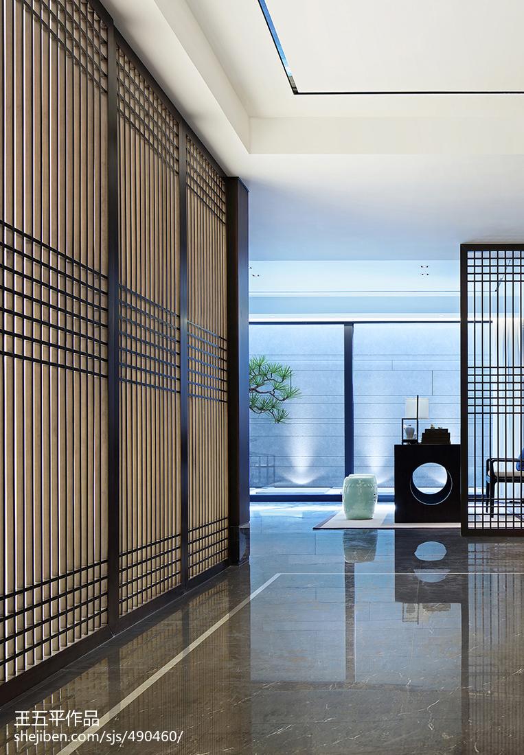 精选135平米中式别墅过道装修设计效果图片