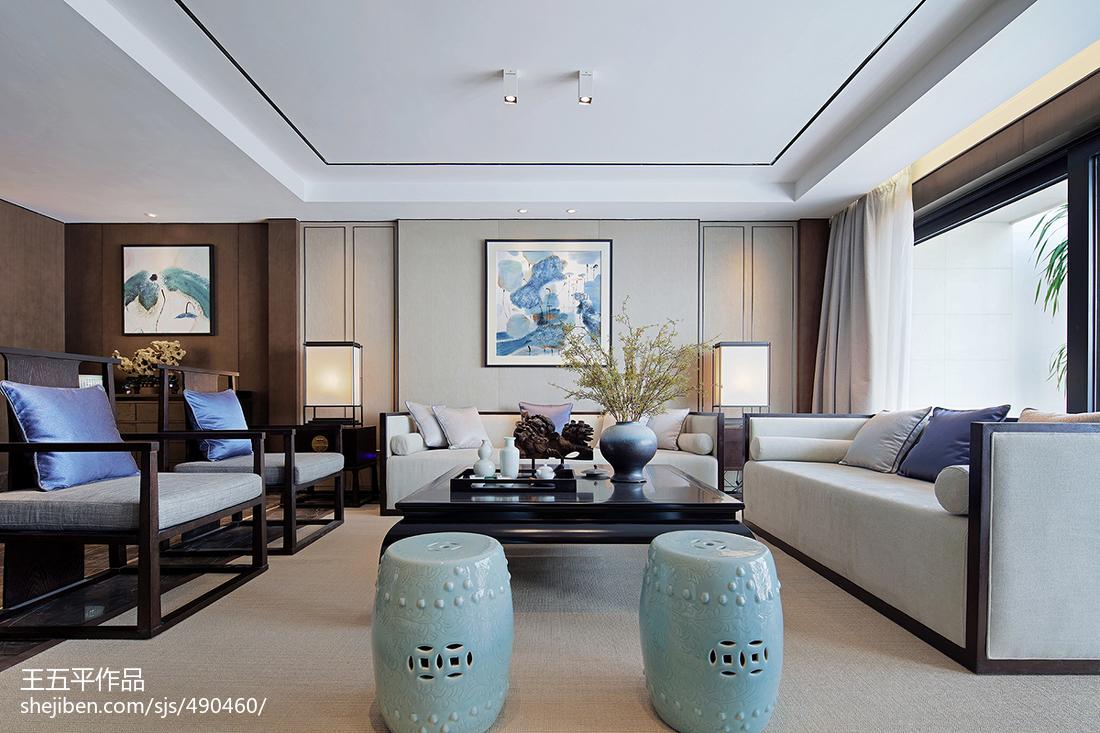 2018精选133平方中式别墅客厅实景图片