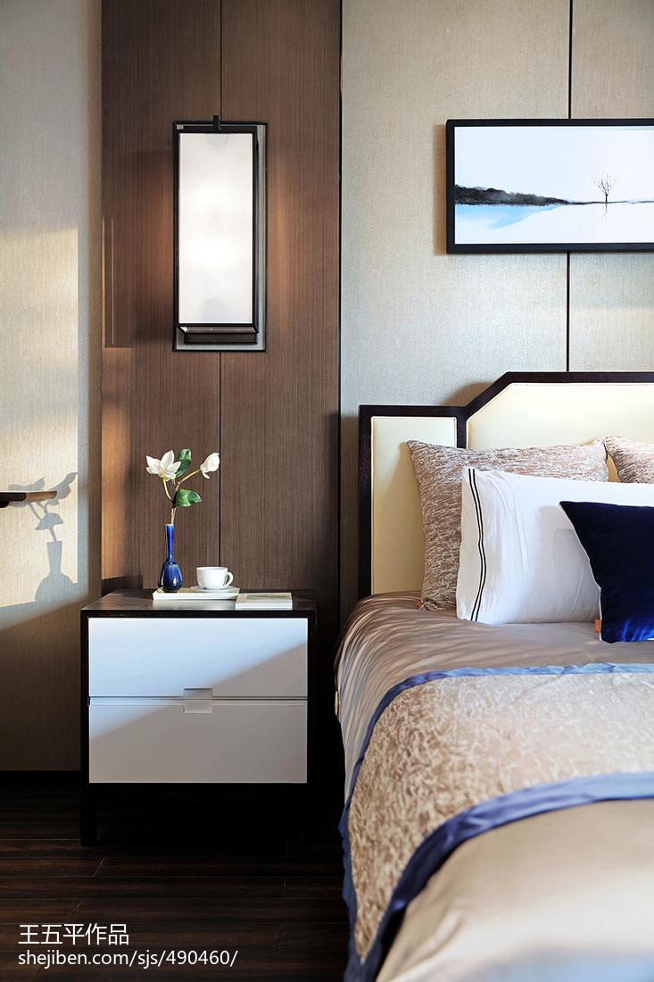 精选126平米中式别墅卧室装饰图片