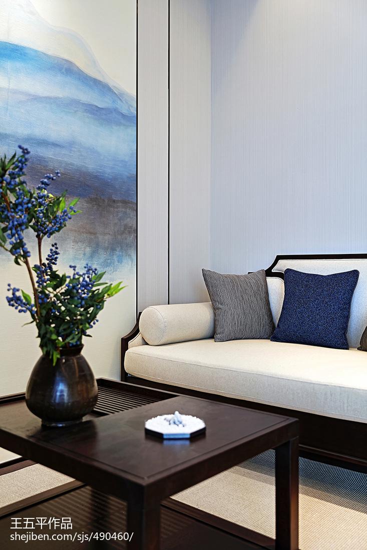 精美133平米中式别墅客厅装修图片